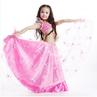 New Arrival newest style Kid Children size belly dancing Set Dress Outfits 4 colors available wholesale