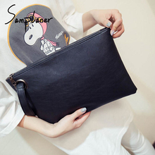 Fashion Wristband Handbag Women Clutch Bags Leather Solid Envelope Bag Female Day Clutch Evening Bag Ladies Knucklebox Hand Bags