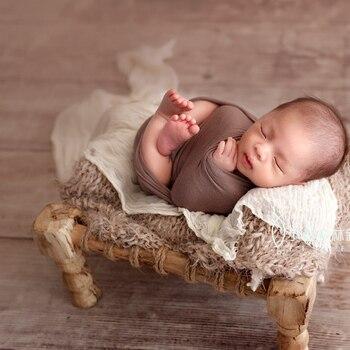 Newborn Baby Photography Wooden Bed Props Tiny Baby Photo Shoot Studio Basket Accessories Newborn bebe fotografia Props