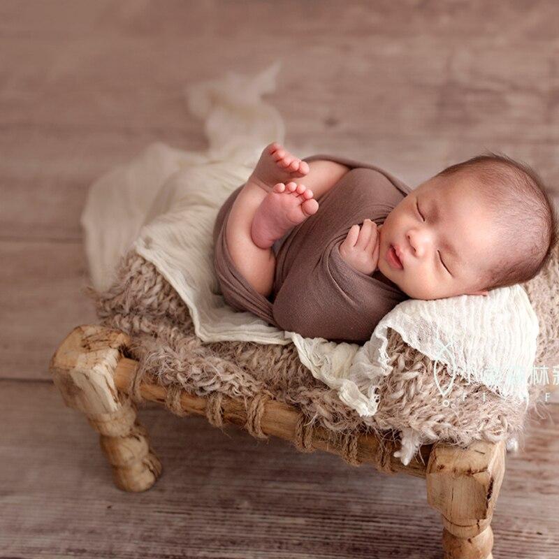 Nouveau-né bébé photographie en bois lit accessoires minuscule bébé Photo Shoot Studio panier accessoires nouveau-né bebe fotografia accessoires