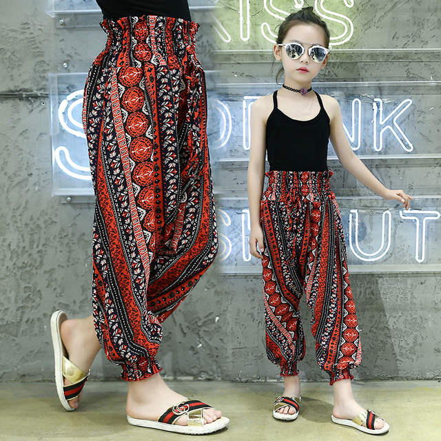 a0b437890 2019 new children summer trousers Anti mosquito ants girls ankle ...