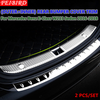 Rear Bumper Protector Trunk Guard Sill Plate Cover Trim Accessories For Mercedes Benz E Class E CLASS W213 Sedan 2016 2017 2018