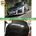 Z-ART TT 8J Car-Styling Carbon Fiber Auto Racing Trunk Engine hood for Audi 8J TT & TTS 2007-2014 bonnet Carbon engine cover