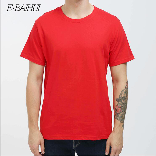 8f294c60 Blank 6 Color Available 100% Soft Cotton Round Neck Short Sleeve Summer Man T  Shirt Red/Black/White/Blue/Gray/Yellow