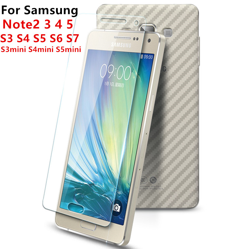 HD tempered glass For Samsung Note2 3 4 5 Galaxy S3 S4 S5 S6 S7 S3mini S4mini S5mini screen protector glass film