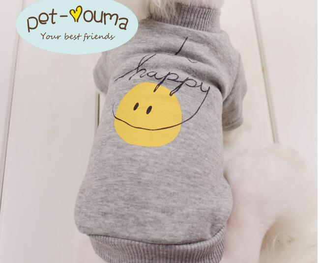 Happy energy full of spring and autumn leisure sweater dog clothes pet clothing ~2colors