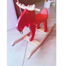 Children's rocking horse Christmas baby deer baby rocking chair rocking horse a birthday present