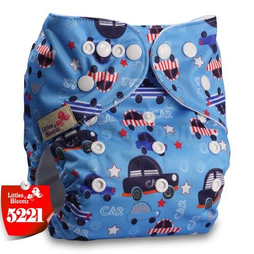 Littles& Bloomz детские моющиеся многоразовые подгузники из настоящей ткани с карманом для подгузников, чехлы для подгузников, костюмы для новорожденных и горшков, один размер, вставки для подгузников - Цвет: 5221