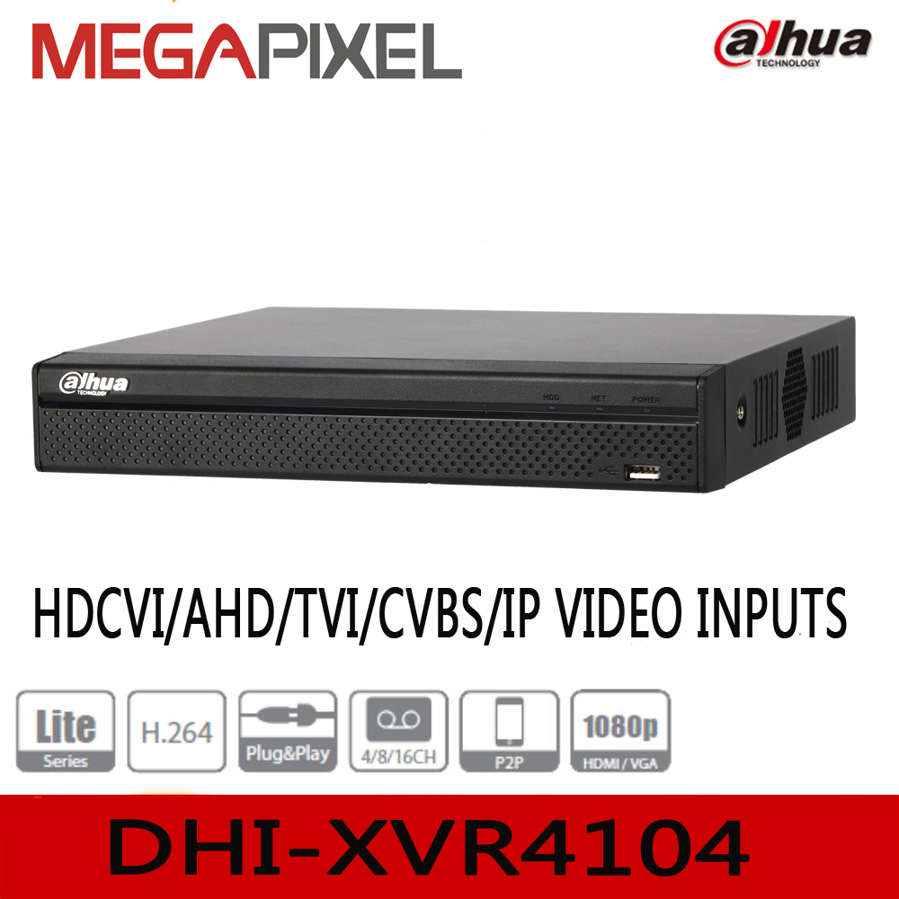 Dahua penta-brid XVR XVR4104HS support HDCVI/AHD/TVI/CVBS/IP video input camcorder cctv video surveillance security nvr dvr 4ch 8ch 1080n cctv ahd dvr nvr xvr video