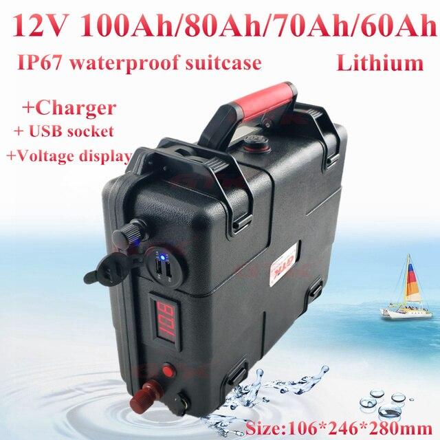Ultra-große kapazität 12 V 60AH, 80AH, 100AH, 120AH, 150AH, 180, 200AH Lithium-polymer Batterie für boot motoren/solar panel power bank