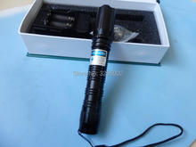 AAA Powerful Military 450nm 50w 500000m Blue Laser Pointer Flashlight burn match candle lit cigarette wicked wholesale Hunting