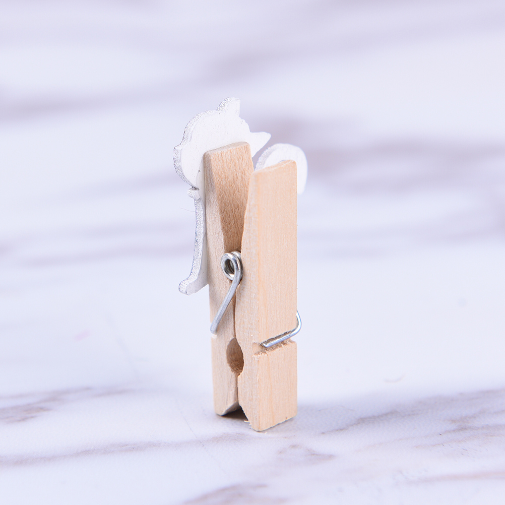 Office Binding Supplies 10pcs Wholesale Japanese Cat Wooden Clips With Hemp Rope Mini Nice Food Clip Kawaii Wood Paper Clip For Bag Students Diy Tools