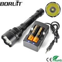 BORUiT 2400LM XHP70 LED Tactical Flashlight 5 Mode Lantern Searching Torch Military Camping Flash Light 18650