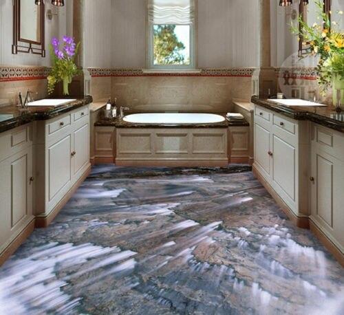 € 16.47 39% de réduction|Livraison gratuite 3D personnalisé mur autocollant  pierre Stream salle de bain revêtement de sol peinture Photo papier peint  ...