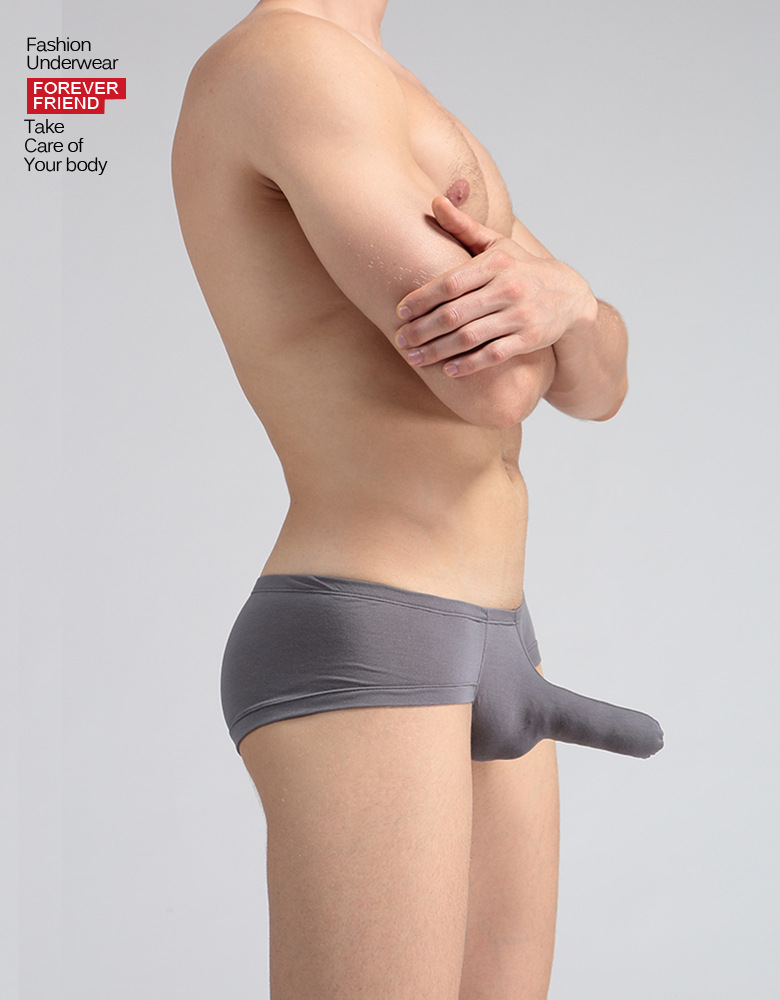 <font><b>Sexy</b></font> Men Underwear Gay <font><b>Boxers</b></font> Shorts <font><b>homme</b></font> Solid Modal Panties Elephant Nose Pouch Low Waist Underpants calzoncillos Cuecas S-XL image