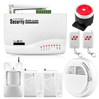 Fuers 10a gsm sistema de alarme para o sistema de segurança em casa com fio pir sensor de porta movimento dupla antena alarme do assaltante controle remoto|system security|system alarm|system alarm gsm -