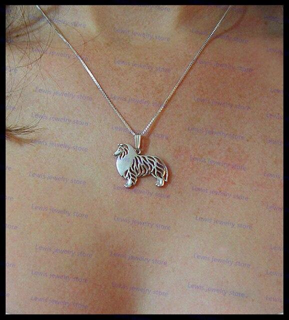 Оптовая продажа мультяшное грубое ожерелье с собакой колли новая