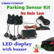 Viecar Парктроник, светодиодный дисплей, автомобильная система заднего хода, без отверстия, датчик s 22 мм 12 В, 8 цветов, система заднего монитора