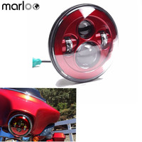 Marloo For Harley Davidson Accessories Harley Touring 7 Inch Led Round Headlight Projector Daymaker Headlamp Red