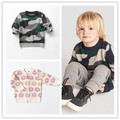 Ins 2016 baby boy clothing boys clothing flower printed kids sweaters outwears winter autumn clothing vetement vestidos christma