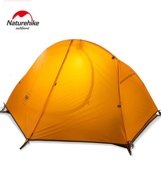Naturehike Ultralight Waterproof Camping Tent Double Layer Outdoor Walking Hiking Tent for 1 Person NH18A095-D brand 1 2 person outdoor camping tent ultralight hiking fishing travel double layer couples tent aluminum rod lovers tent