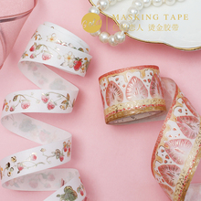1 Roll Foil Washi Masking Tapes Strawberry bronzing Decorative Adhesive Scrapbooking DIY Paper Japanese foil washi tape 5M все цены