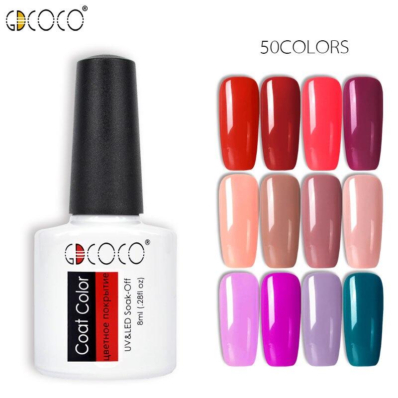 70312# GDCOCO Nail Gel Polish 50 Colors New Arrival Canni Supply Gel Nail Polish Soak Off UV LED Purple Lacquers Pink Gel Polish kyser kds500 polish
