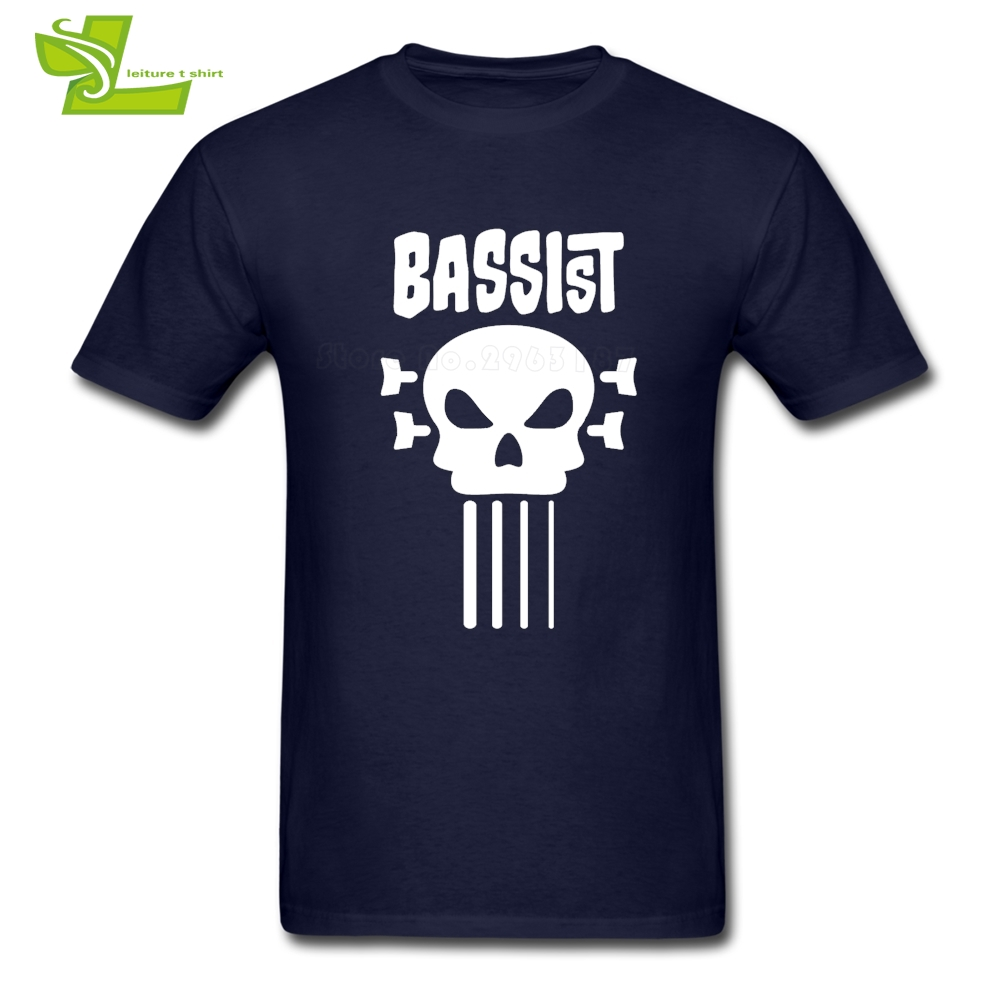 Bassist And Skull Caps Man T Shirt 2019 Fashion Summer Tops Men Summer Round Neck Tees Dad Newest Clothes Bass
