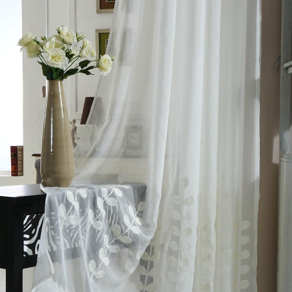 [Lassú lélek] Egyedi függöny fehér géz árnyék hímzés - Lakástextil