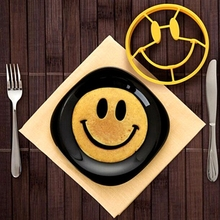 Breakfast Silicone Smiling face Fried Egg Omelette Mold Pancake Shaper Cooking Tools Kitchen Gadgets creative personality shape