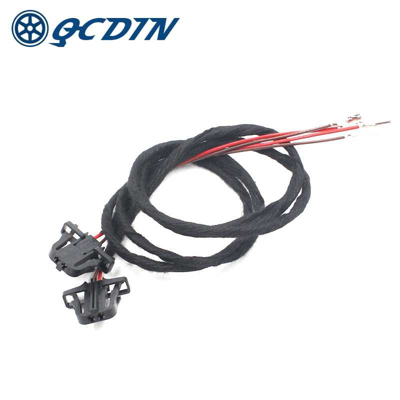 2 Pcs 50cm Extension Wire Harnesss Kit for VW Golf MK5 MK6 MK7 GTI R32 R line GTI Door Light Cable