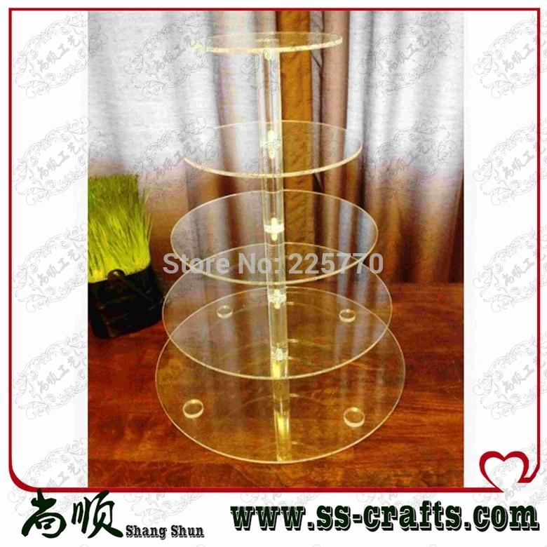 5 Tier Round Acrylic Cupcake Stand, 5 Tier Round Perspex Cupcake Stand, 5  Tier Round Plexiglass Cupcake Stand