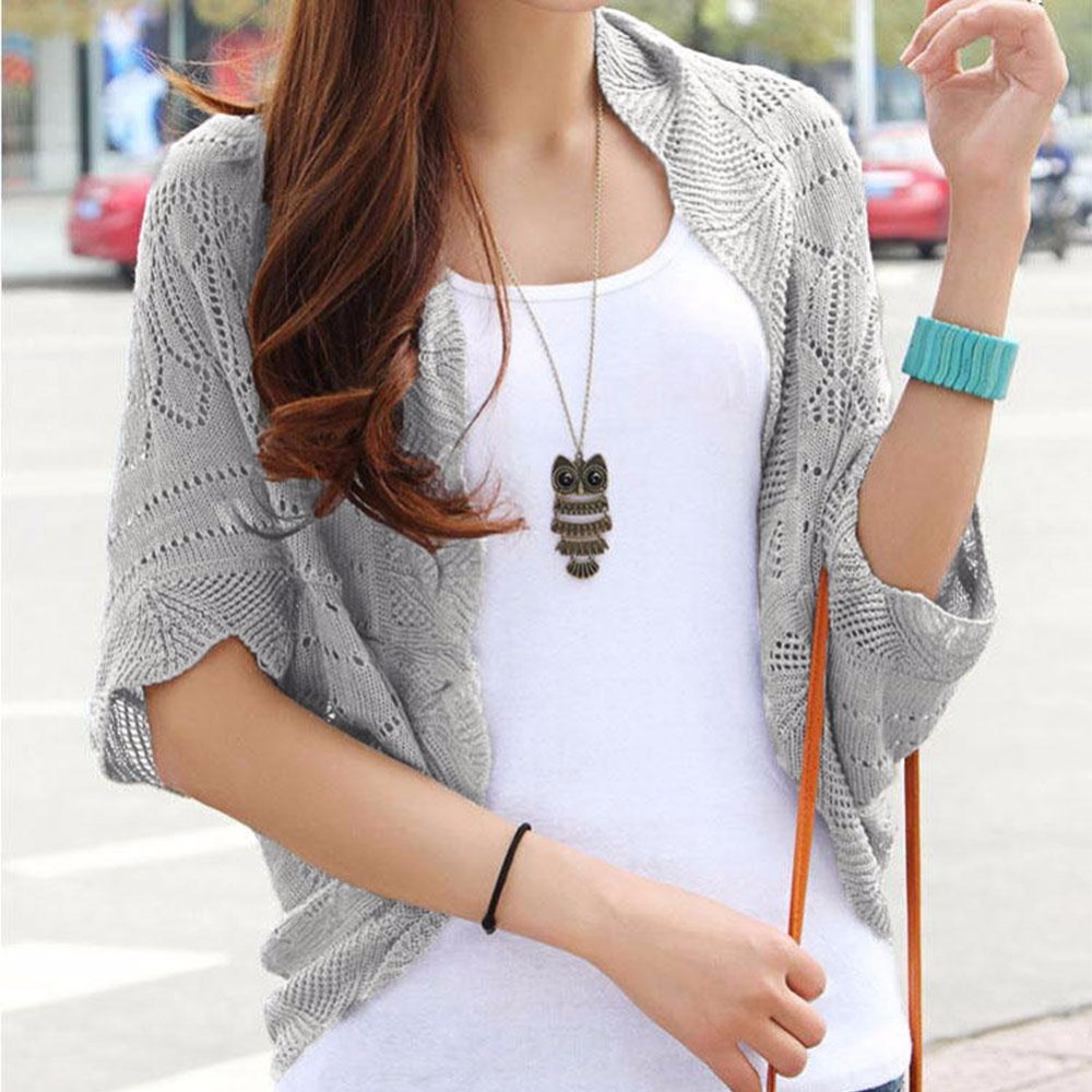 6 Colors Summer Fashion Women Cardigan Hollow Out Sweater Clothes Soild Women Sweaters Casual Knit Cardigan Elegent Tops