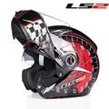 Envío gratis Authentic Motorcycle Helmets tirón encima del Casco y lente doble Moto Modular Capacete Casco Ls2 FF370
