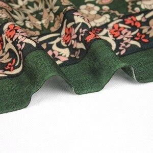 Image 5 - New 2019 Women Winter Scarf For Women Wool and Silk Scarf And Shawl Warm Female Plaid Scarf Women Shawl echarpe Face Shield