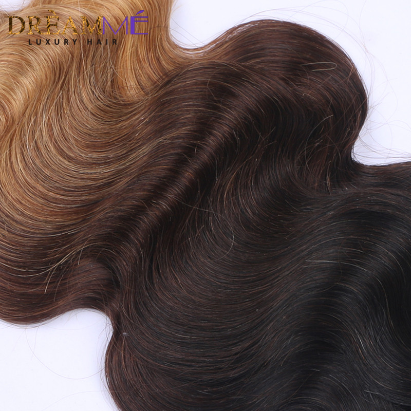 Dreaming Queen Hair Body Wave Ombre Brasilian Human Non Remy Hair 3 - Menneskehår (sort) - Foto 4