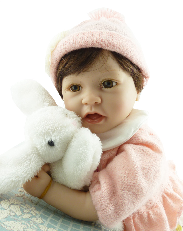 55cm silicone girl doll 22inch NPK Reborn babies Dolls  Lifelike Newborn Baby Doll girls toys for children  Brinquedo Juguetes 18 inch dolls handmade bjd doll reborn babies toys for children 45cm jointed plastic toy dolls for girls birthday gifts juguetes