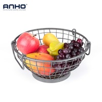 Fruit Basket Holder Vegetable Rack Metal Storage Basket Home Table Dining Kitchen Decoration