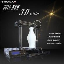 Tronxy X3 Gran tamaño 220*220*300mm de Alta Calidad de Precisión Reprap Impresora 3d DIY kit con 2 Rollo de Filamento 8 GB tarjeta SD y LCD