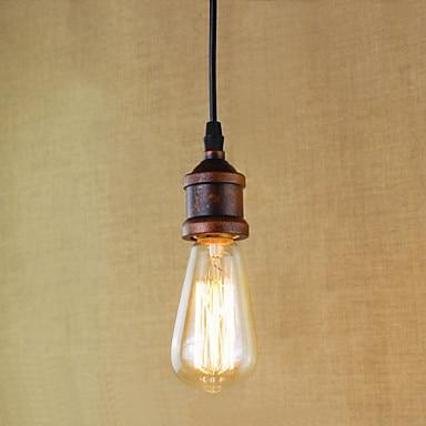 40w American Retro Vintage Lamp Fixtures Edison Style Loft Industrial Pendant Lighting Lampen luminaire american edison loft style rope retro pendant light fixtures for dining room iron hanging lamp vintage industrial lighting