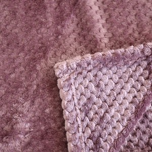 Image 4 - Japan Style Flannel Blanket Solid Plain Coral Fleece Mink Throw Thick Breathable Soft Warm Plaid Spring Summer Quilt Blankets