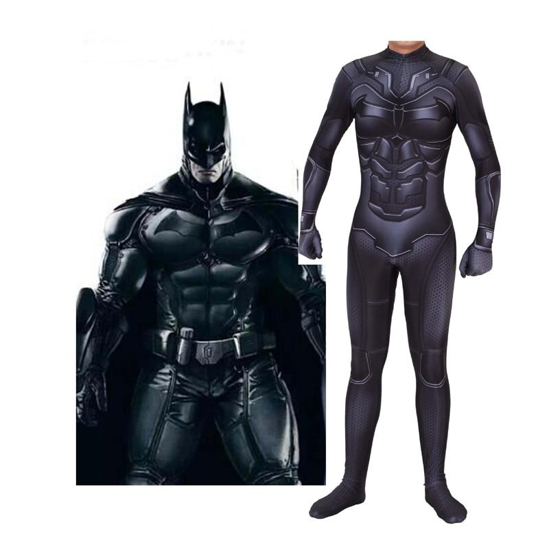 Kids Adult  Lycra Batman Catsuit Zentai Cosplay Costumes for Man Children Superhero Bodysuit Costume Cosplay