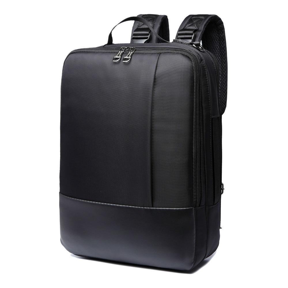 ФОТО 3 Mode Function Men's Computer Backpacks High Quality Nylon Black Color Laptop Bags Waterproof Travel Backpack Bag ME002