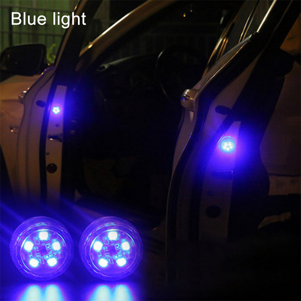 2pcs Wireless 5 LED Car Door Opening Warning Lights  Anti-Collision Light Anti Rear-end Collision Led Safety Lamps