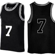 5bea3c68152 OLN Throwback Basketball Jerseys Movie BLACK 7 basketball shirt For Men  Custom
