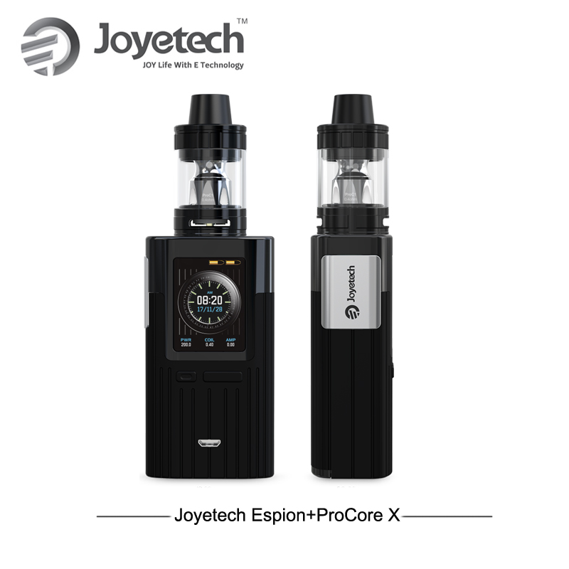 все цены на New Arrival! Big Display Electronic Cigarettes Joyetech Espion Box Mod Kit with 2ml ProCore X Tank Atomizer 200w TC E Cigarettes