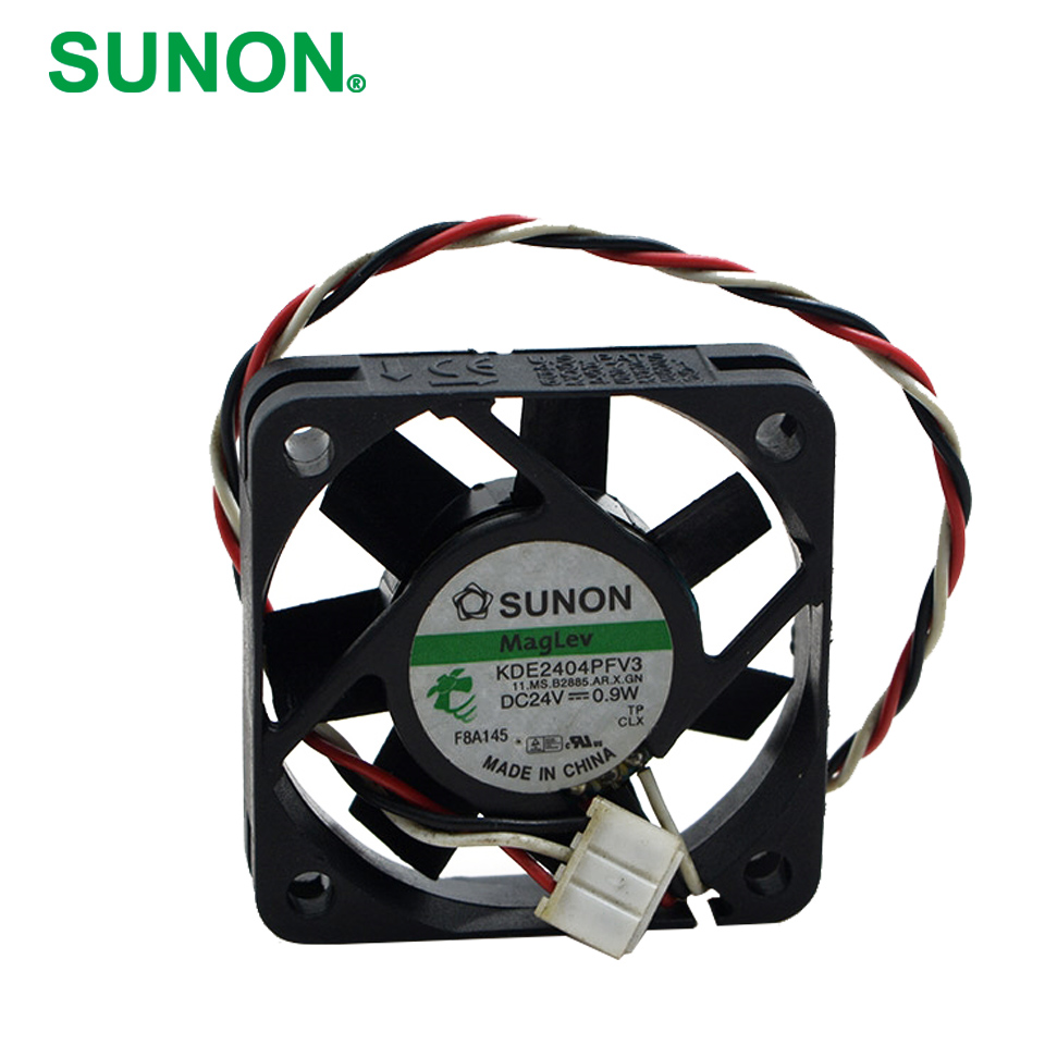 Sunon original KDE2404PFV3 Double Ball Bearing Cooling Axial Fan DC 24V 0.9W 4010 40*40*10mm 100 pcs/lot delta 4010 asb0412ha fk2 7372 hydraulic bearing cooling fan with 40 40 10mm 12v 0 1a 3 wires for bridge chip