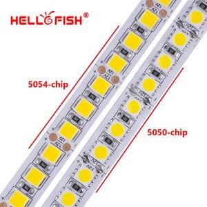 Image 4 - Fita de led dc 12v, 5054 5050 5m 600 led 12v flexível 120 led/m iluminação branca luz branca quente rgb