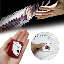 Mini Poker Cards Black/Red Fun Doll House Accessories Doll'S Toys Miniature Paper Family Game Gambling Squeezer(China)