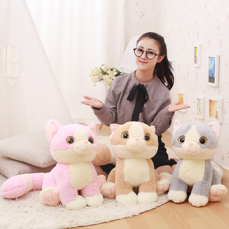 d4960528f9e 1pc Japanese Cartoon Long Tail Cat Plush toy Lovely Big Eyes Kitty Cats  Soft Stuffed Animals Doll Kids Girls Birthday Gifts-in Movies   TV from Toys  ...